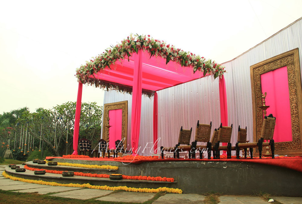 Pink Wedding Theme Theme Wedding Decorations Bangalore Melting Flowers