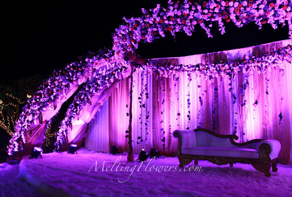 Moonlight Wedding Theme Wedding Theme Decorations Melting Flowers