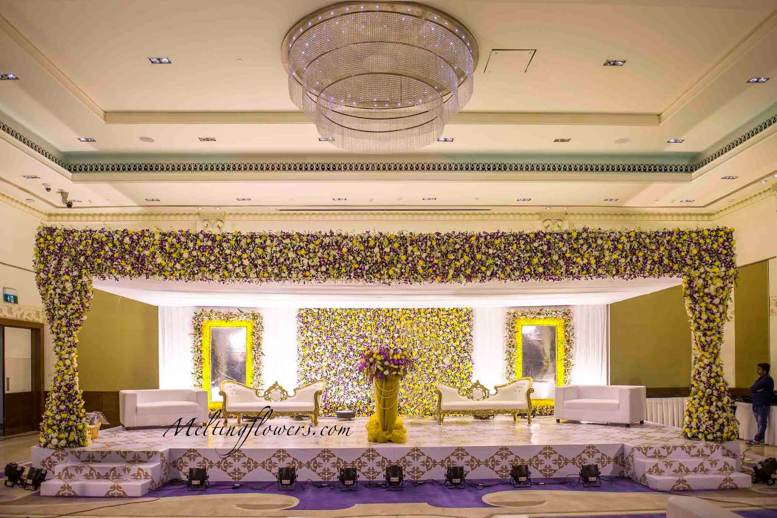 Uncategorized Wedding Reception Backdrop Decorations wedding backdrops backdrop decorations melting flowers reception stage decoration decoration