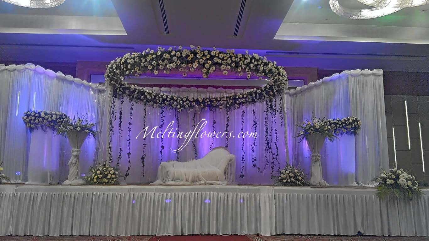 Wedding backdrops backdrop decorations melting flowers for Marriage decoration photos