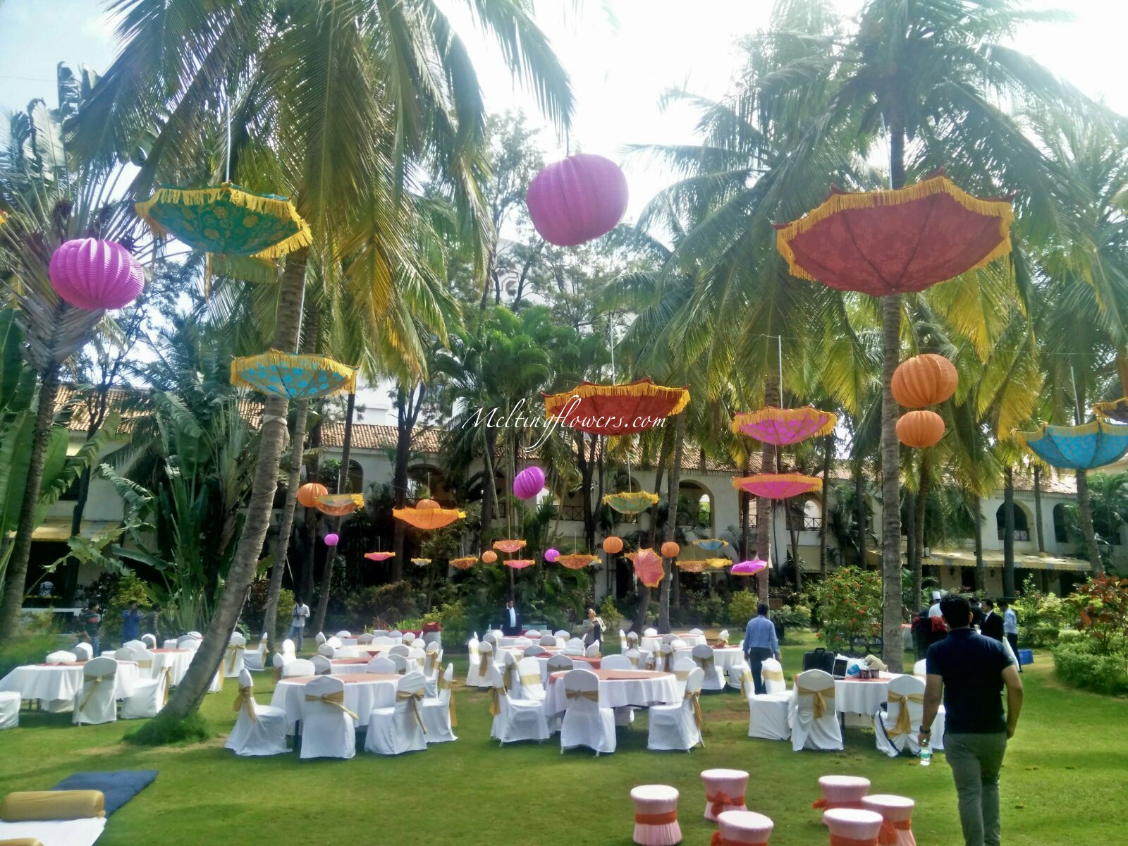 Golden Palms Resorts Garden Wedding Venues In Bangalore Melting